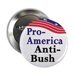 Pro-America Anti-Bush Button