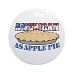 American As Apple Pie Ornament