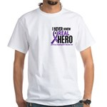 Cystic Fibrosis Real Hero 2 White T-Shirt
