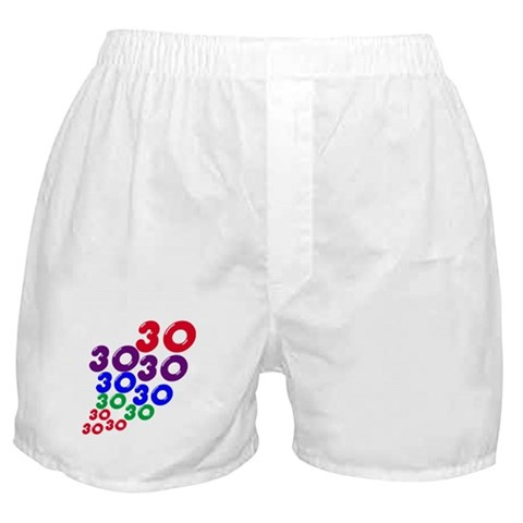 30 gifts,  30th birthday Boxer Shorts by CafePress
