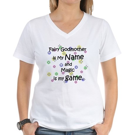 Fairy Godmother Name Women's V-Neck T-Shirt