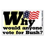 Why vote for Bush Bumper Sticker