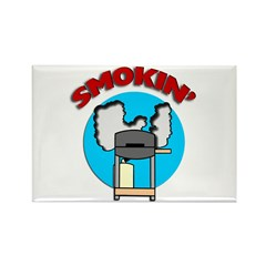 Smokin' Barbecue Rectangle Magnet