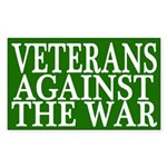 Veterans Against the War bumper sticker
