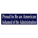 Proud American Ashamed of Bush sticker