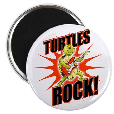 10 Pack - Turtles Rock Magnets Turtle 2.25 Magnet 10 pack by CafePress