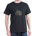 Grey Wolf Head Growling Drawing T-Shirt