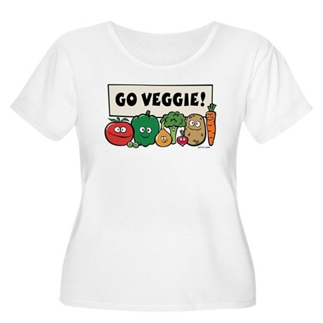 Go Veggie! Women's Plus Size Scoop Neck T-Shirt