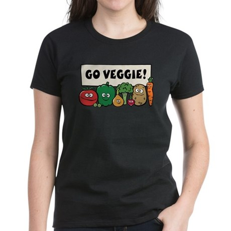 Go Veggie! Women's Dark T-Shirt