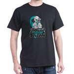 Tourette's Syndrome Bulldog Pup Dark T-Shirt