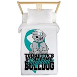 Tourette's Syndrome Bulldog Pup Twin Duvet