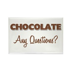 Any Questions Chocolate Magnet