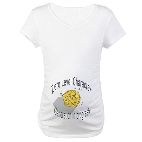 0-Level Character Generation  Baby Maternity T-Shirt by CafePress