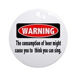Beer Warning Ornament