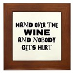 Wine Ransom Note Plaque