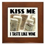 Kiss Me Wine Plaque