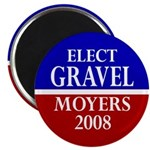 Gravel-Moyers 2008 Magnet