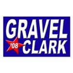 Gravel-Clark 2008 bumper sticker