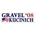 Gravel-Kucinich '08 Bumper Sticker