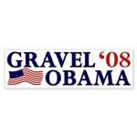 Gravel-Obama '08 Sticker (Bumper)
