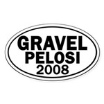 Gravel-Pelosi 2008 Oval Car Sticker