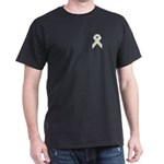 White Awareness Ribbon T-Shirt