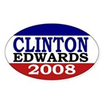 Clinton-Edwards 2008 Sticker (Oval)