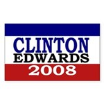 Clinton-Edwards 2008 Sticker (Rectangular)