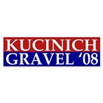 Kucinich-Gravel '08 bumper sticker