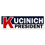 K for Kucinich for President Bumper Sticker