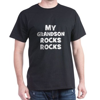 My Grandson Rocks Dark T-Shirt