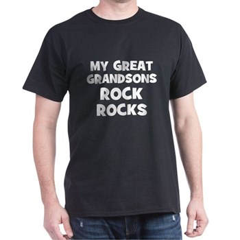 My Great Grandsons Rock Dark T-Shirt