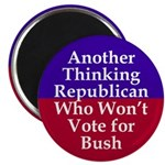 Thinking Republican Against Bush Magnet