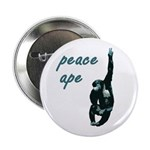 Peace Ape Pinback Button