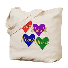 A broken heart is different than a broken jaw. Wear this design of four hearts and the words
