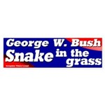 Bush Snake in the Grass Bumper Sticker
