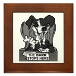 The Bark Stops Here Framed Tile
