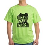 The Bark Stops Here Green T-Shirt