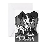 The Bark Stops Here Greeting Cards (Pk of 10)