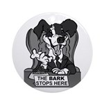 The Bark Stops Here Ornament (Round)