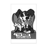 The Bark Stops Here Mini Poster Print