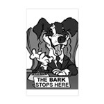 The Bark Stops Here Sticker (Rectangular)