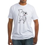 Prancing Dog Fitted T-Shirt
