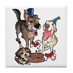 Birthday Dogs Tile Coaster