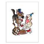 Birthday Dogs Small Poster