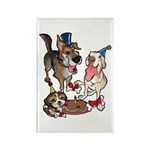 Birthday Dogs Rectangle Magnet (100 pack)