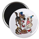 "Birthday Dogs 2.25"" Magnet (100 pack)"