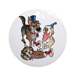Birthday Dogs Ornament (Round)