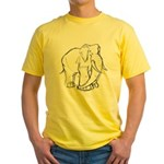 Elephant Sketch Yellow T-Shirt