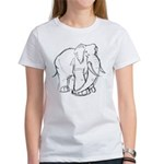 Elephant Sketch Women's T-Shirt